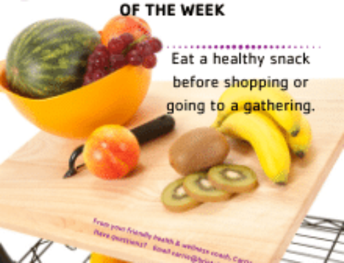 Eat a Healthy Snack Before Shopping or Going to a Party